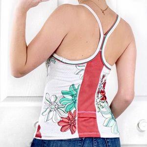 RARE Lululemon Vintage Floral Logo Ujjayi Tank Top